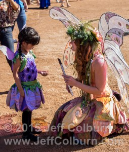 Twig the Fairy with a fairy in training.
