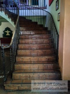Stairs leading to the second floor.