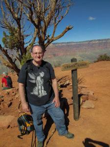 Me at Cedar Ridge, really needing a break and lunch. Photo by Linda-Ann Stewart.