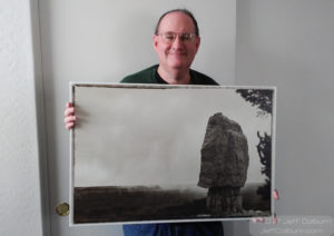Me with my print, The Monolith.